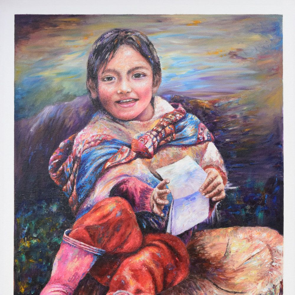Peruvian oil painting, wall art, home decor, folk art de TinoArt en Etsy