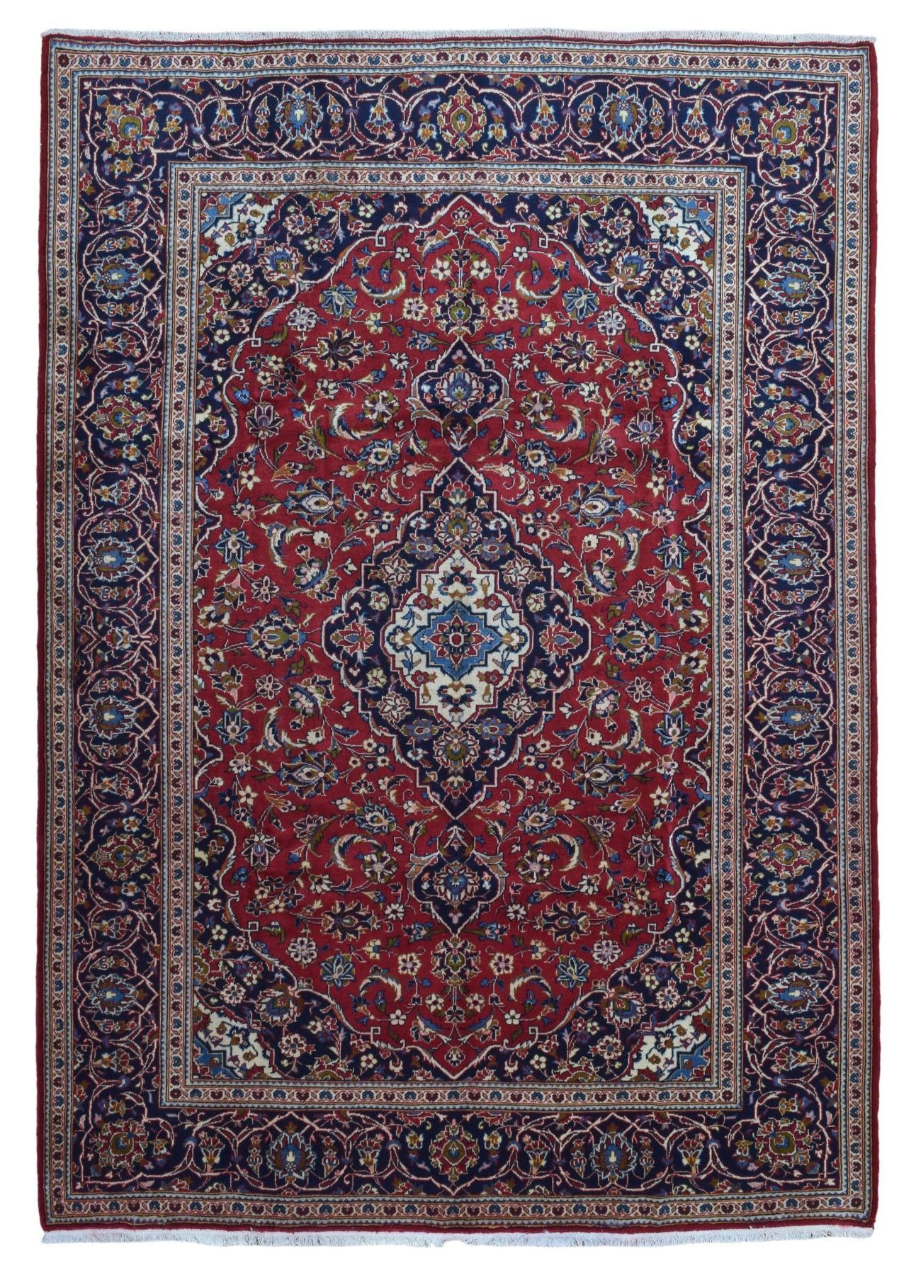 Semi Antique Persian Kashan Oriental Rug 8 1x11 4 Oriental Rug Rugs Antiques