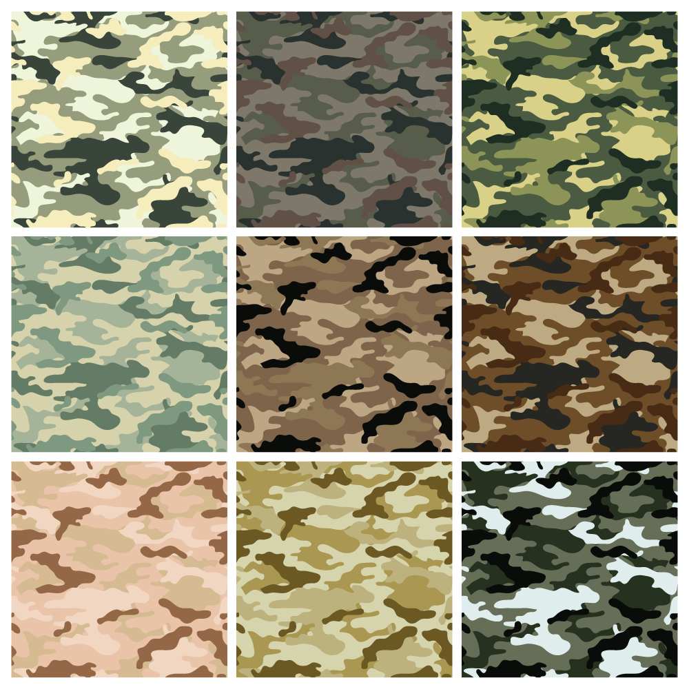 Camouflage Seamless Background Vector Iphone 壁紙 迷彩 秋冬