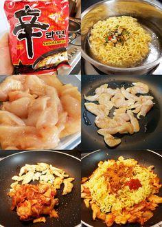 This Is My Take On The Korean Version Of Maggi Goreng Shin Ramyun Goreng Korean Instant Noodles Dry Fried Instead Of Soup