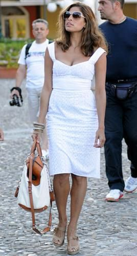 Been looking for white eyelet like this on Eva Mendes forever!