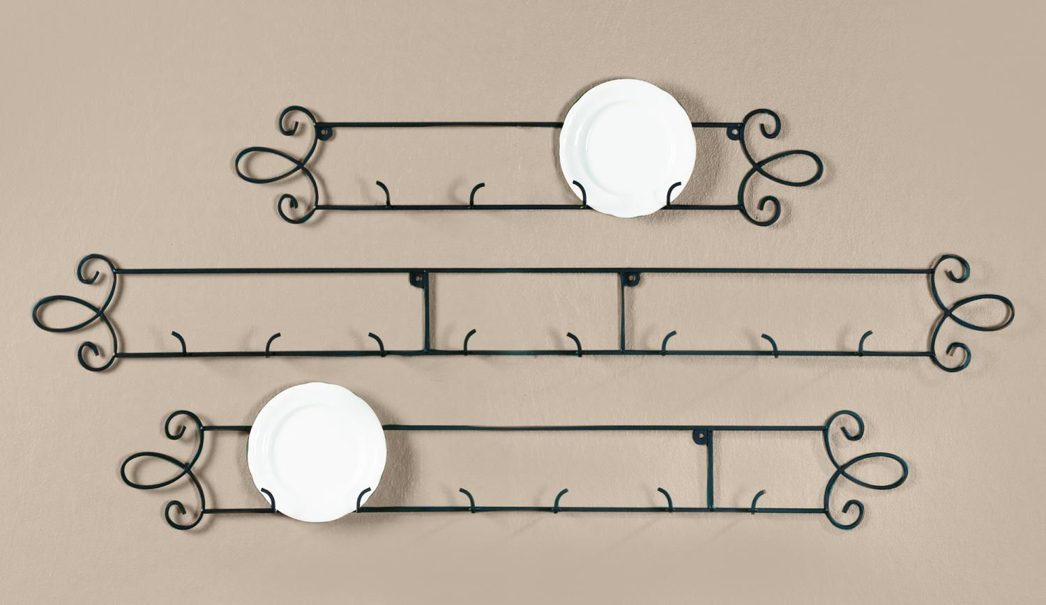 Augusta Black Horizontal Plate Racks (Plate Racks (Wall)) - I ordered one of these and have it installed to hold my new Fiesta appetizer plates for display!  sc 1 st  Pinterest & Augusta Black Horizontal Plate Racks (Plate Racks (Wall)) - I ...