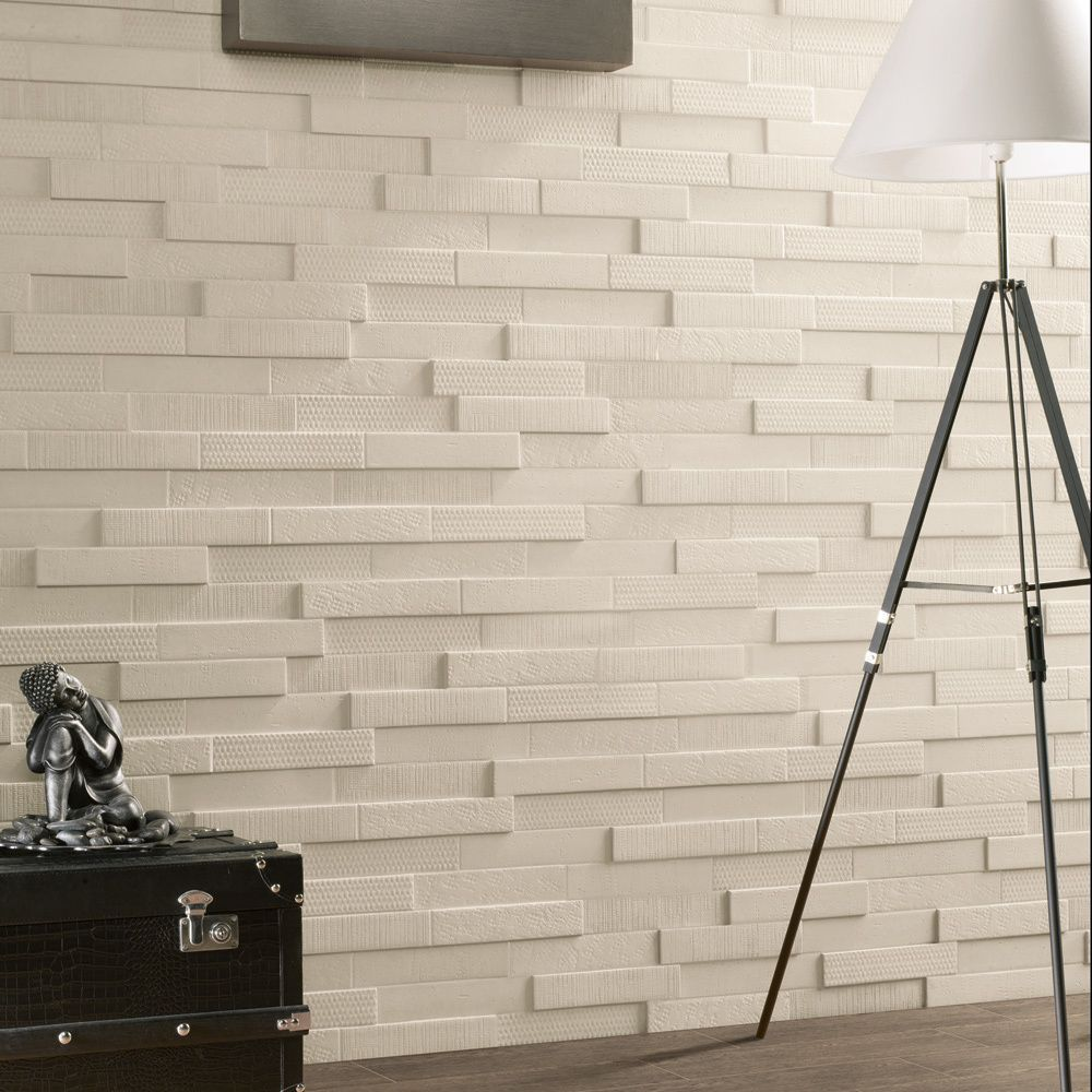 Update your kitchen or bath with these unique white porcelain tiles