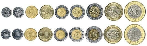 Monedas Mexicanas Tipo C Monedas Moneda De 20 Centavos Moneda Mexicana