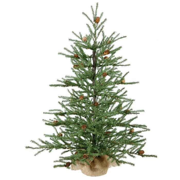 Potted Christmas Trees For Sale: Green Pine Artificial Christmas Tree