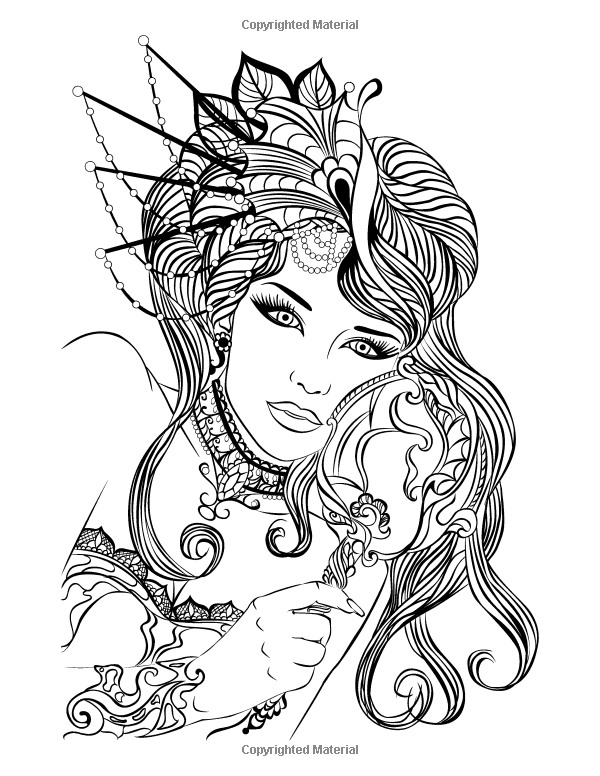 face coloring pages adults - photo#4