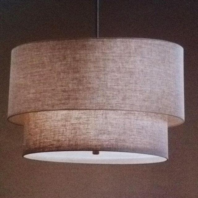 Linen pendant-Restoration Hardware $450