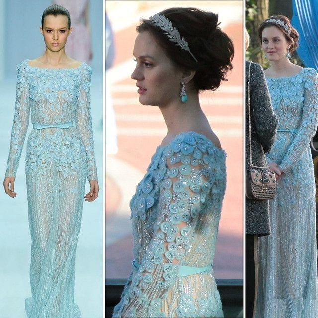 Altar Ego Wedding: Leighton Meester (as Blair Waldorf) Wearing Ellie Saab