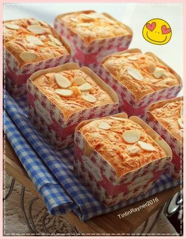 Resep Bolu Hongkong Keju Almond Harum Lembutt Oleh Tintin Rayner Resep Makanan Resep Makanan Penutup Mini