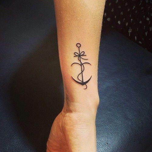 Anchor tattoo - bow tattoo - girls tattoo - womens tattoos ...