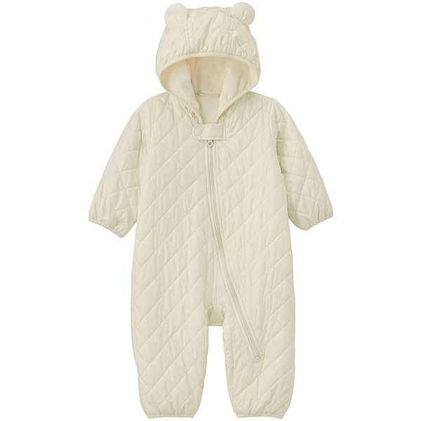 UNIQLO BABIES NEWBORN Body Warm Lite Long Sleeve One Piece Outfit ($13) ❤ liked on Polyvore featuring baby