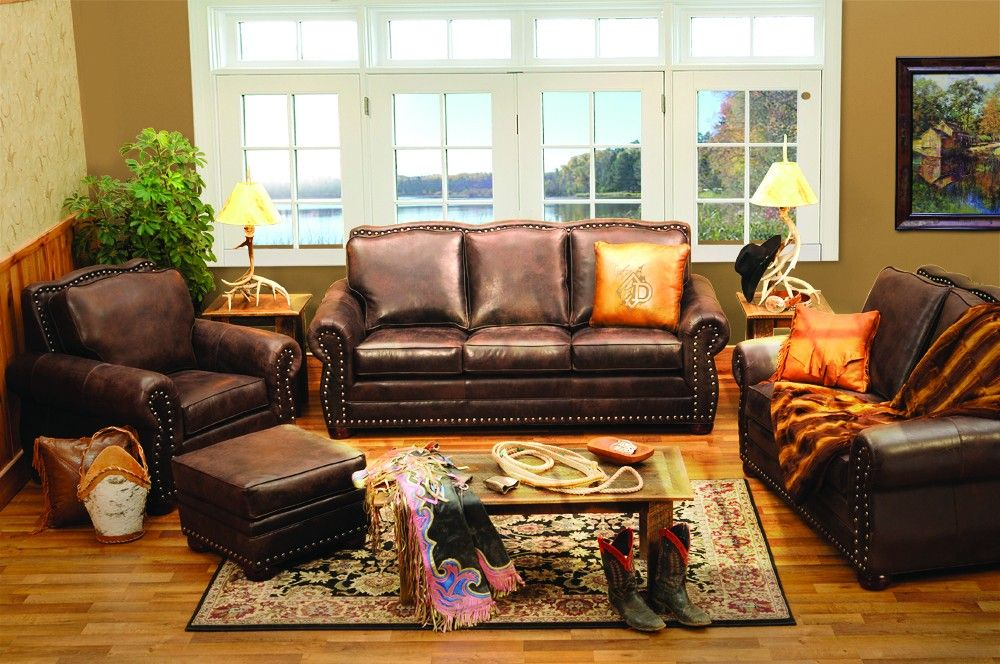 Rustic Jerome Davis Sofa | Western living room decor ...