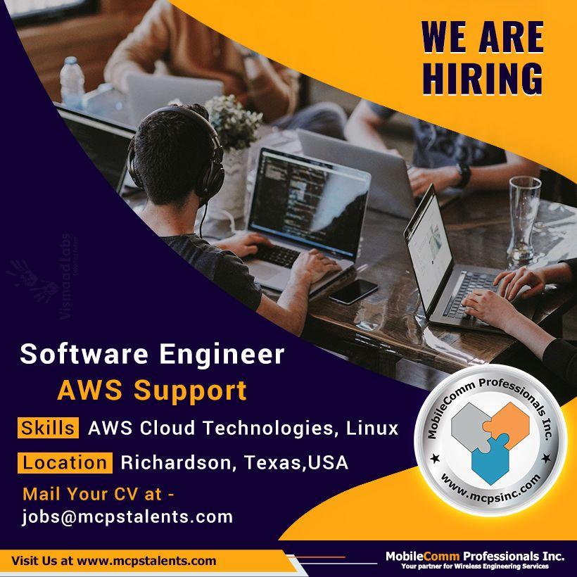 Software Engineer AWS Support Job Engineering