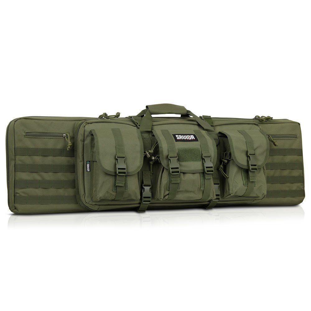 "36/"" 55/"" Double Carbine Rifle Long Gun Padded Case Range Bag Savior Equipment"