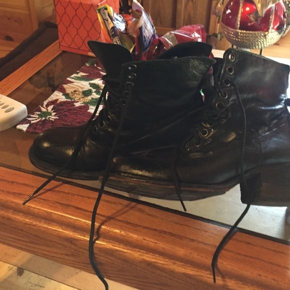 Bebe bootsSale one hour In greatcondition black with brand new shoe strings  cost new 175 new this pair is used but still very nice bebe Shoes Lace Up Boots