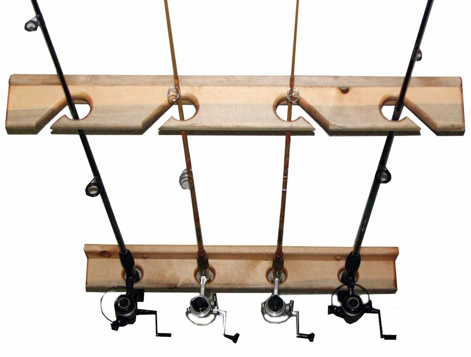 Fishing Pole Rack 4 Wall Or Ceiling Mudroom Entryway