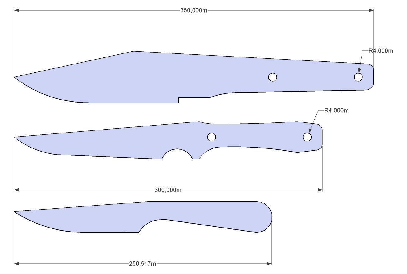Knife Drawings Knife Template Knife Patterns Knife