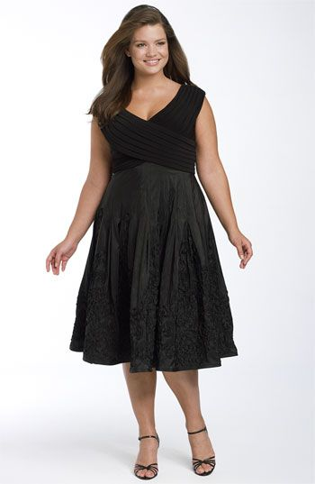 Adrianna Papell Matte Jersey Taffeta Party Dress Plus Available