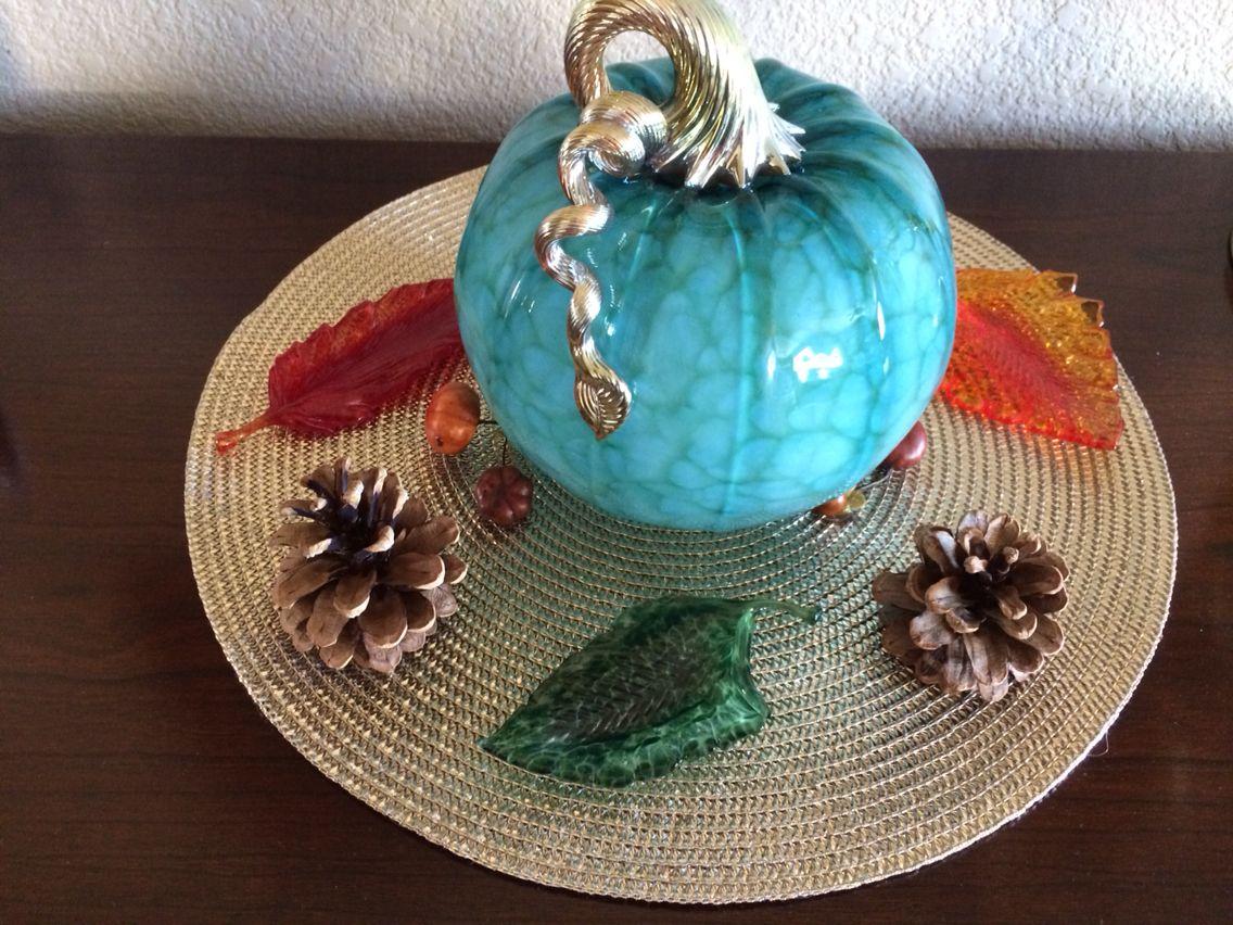 Cohn Stone Glass Pumpkins
