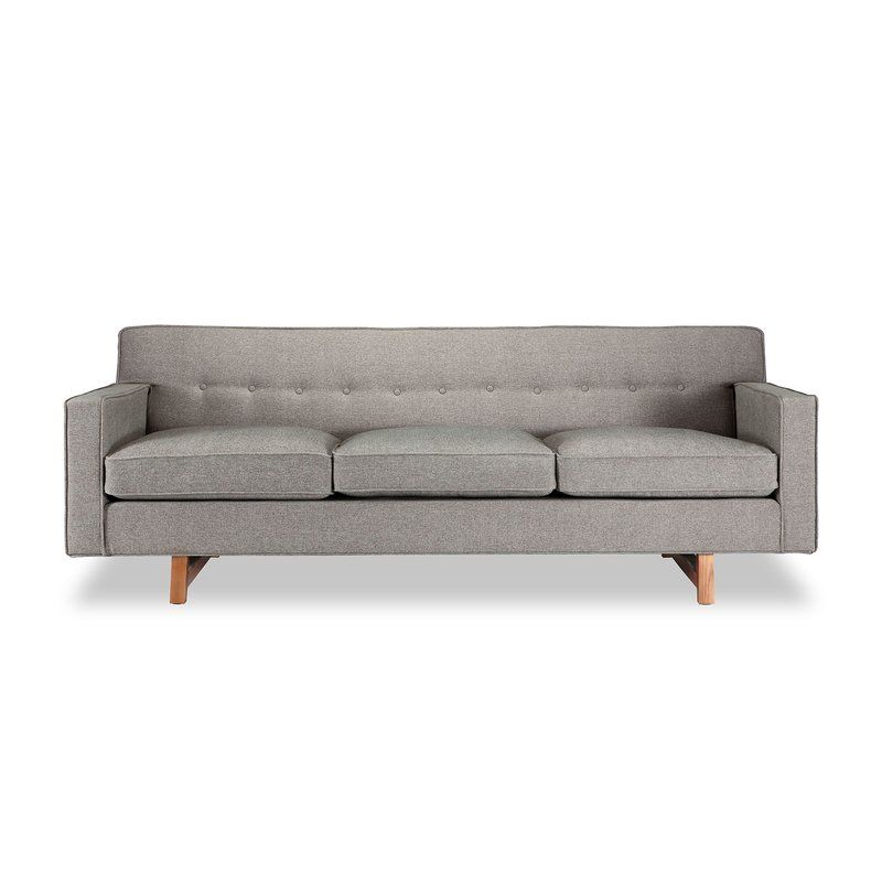 Kennedy Mid Century Modern Classic Sofa Modern Sofa Couch