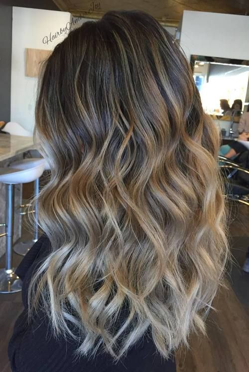 Two Tone Hair Hair Hair Color Balayage Brown Blonde Hair