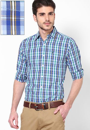 337585b3f685f2 Lee Blue Casual Shirt - Buy Men Casual Shirts Online | LE079MA15INGINDFAS  Collections, Slim Fit