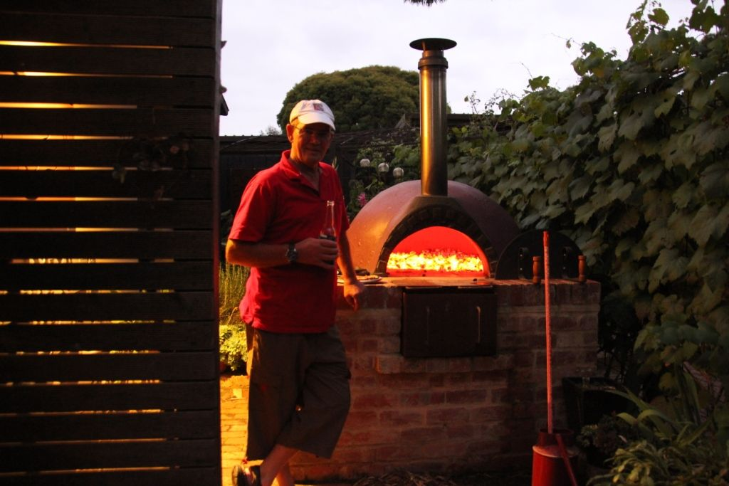 the BEST part of gardening! Pizza at the end of the day.  January 2012. Katherine Cooper.