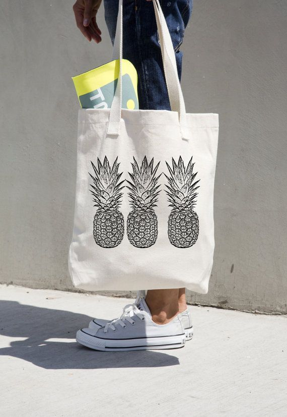 Tendance Sac 2017/ 2018 : Pineapple Tote Bag Market totes Grocery ...