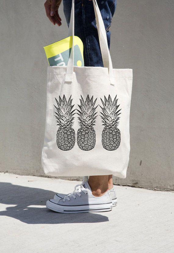 Tendance Sac 2017/ 2018 : Pineapple Tote Bag Market totes Grocery ...