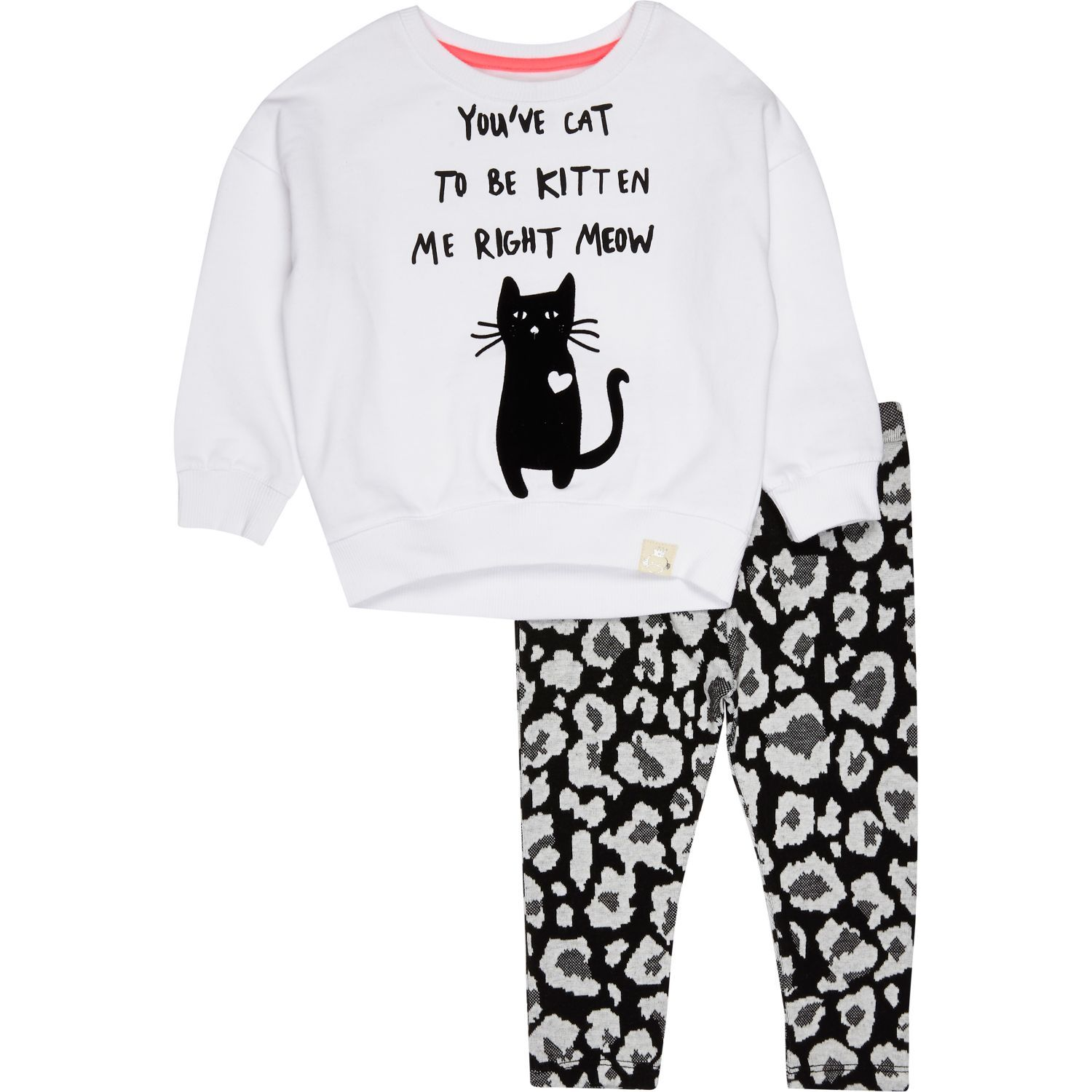 Mini girls kitten sweatshirt and legging set £18 #riverisland #RImini #babywear