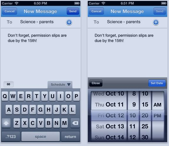 Remind 101 app iphone app provides a safe way for