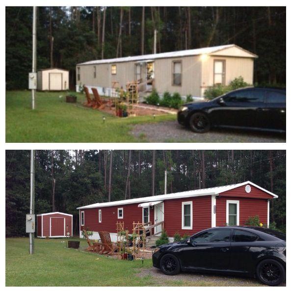 ae1cad09c451554a6af5de9c6b730316 Mobile Homes Red on red houses, red siding, red decks,