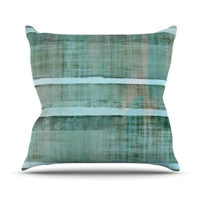 East Urban Home Line Up Outdoor Throw Pillow