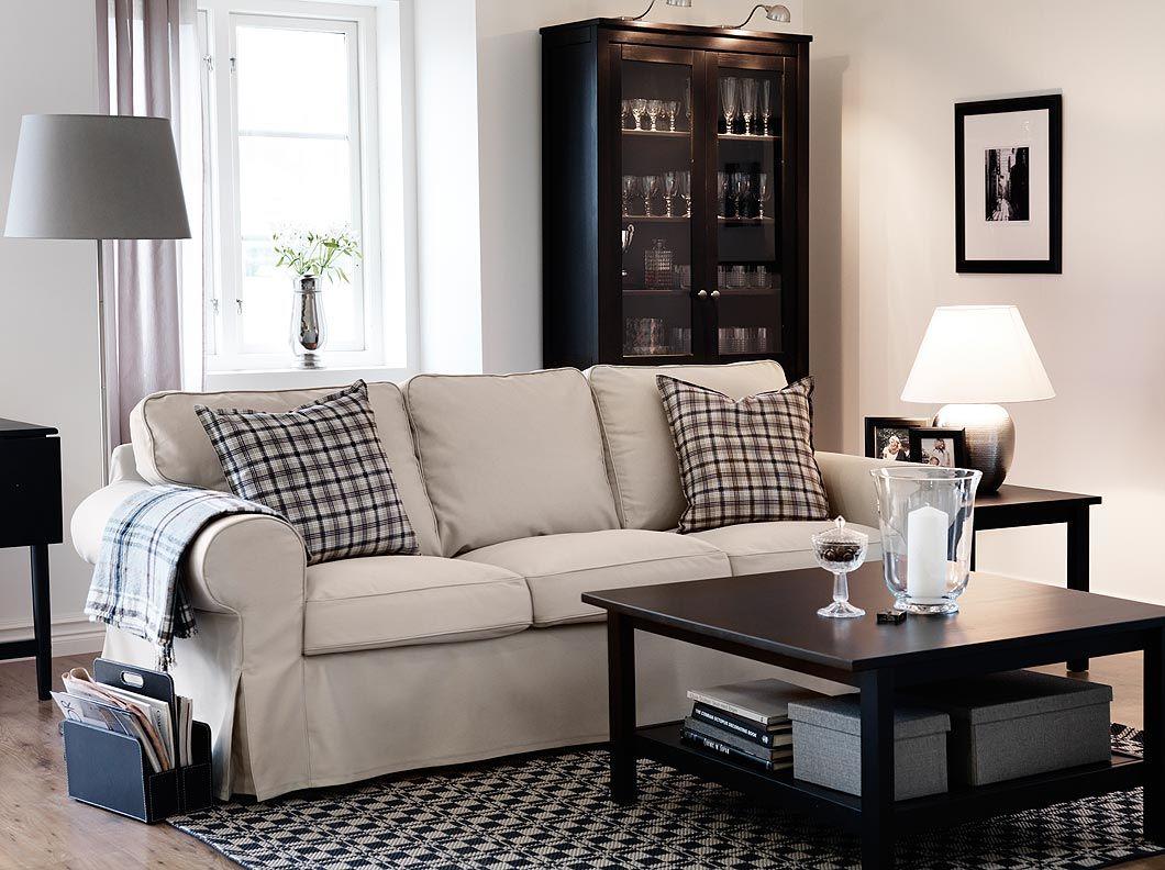 Ektorp Three Seat Sofa With Tygelsj 246 Beige Cover And
