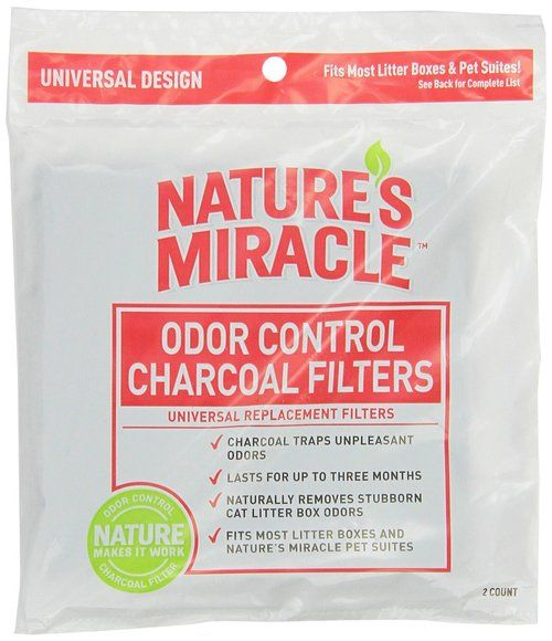 Natures Miracle Odor Control Universal Charcoal Filter, 2-Pack