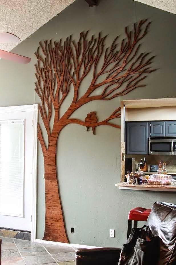 DIY: Tree Wall Art - Wilker Do\'s | School jobs | Pinterest | Tree ...