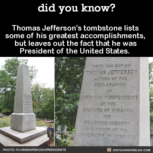 who wrote the words on thomas jeffersons tombstone