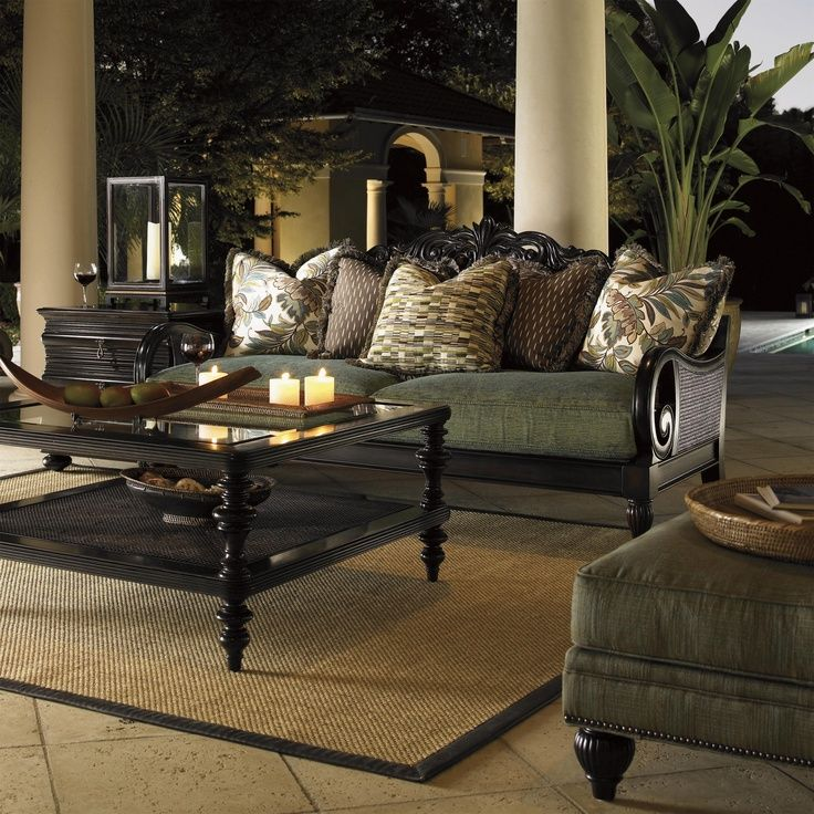 We Love The Ease Of Outdoor Decorating With The Tommy Bahama Royal Kahala  Turtle Bay Collection