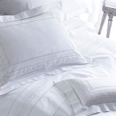 There Is An Old Fashioned Allure Of Having White Crisp Cotton Bed Linen Which Decorated With Exquisite Needlework