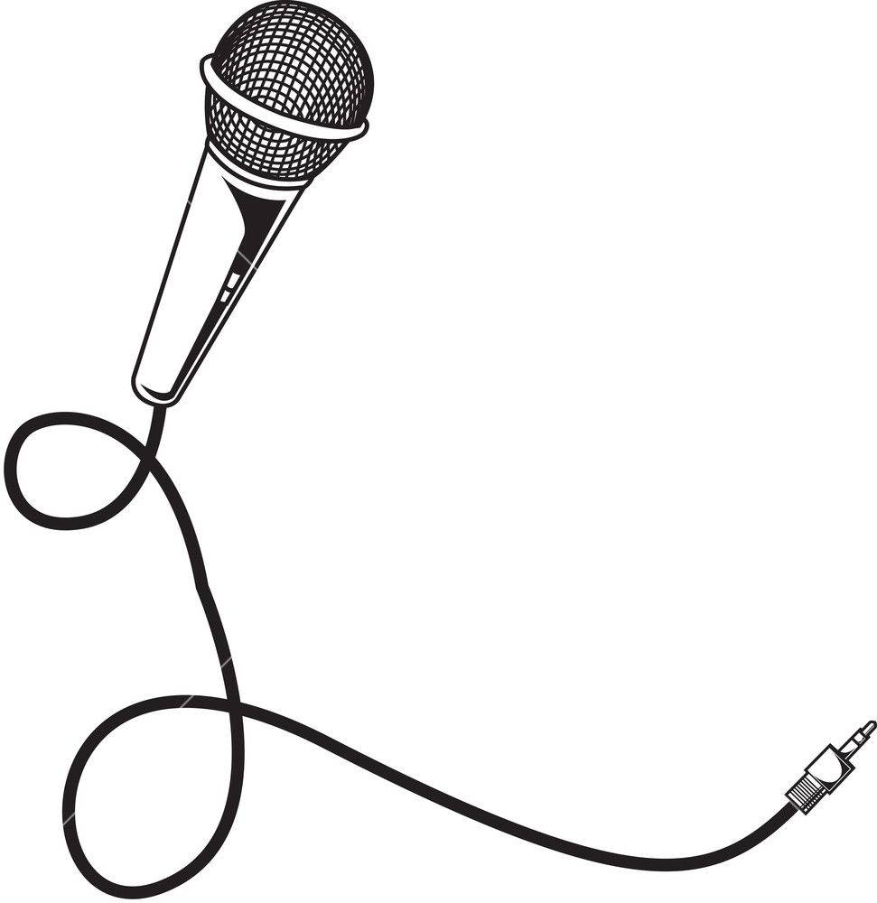 Image result for microphone drawing