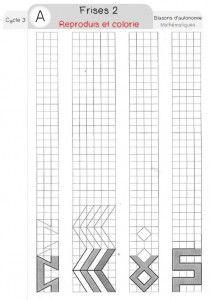 frises autonomie | Mathématique cm1, Géométrie ce1 et Géométrie cycle 3