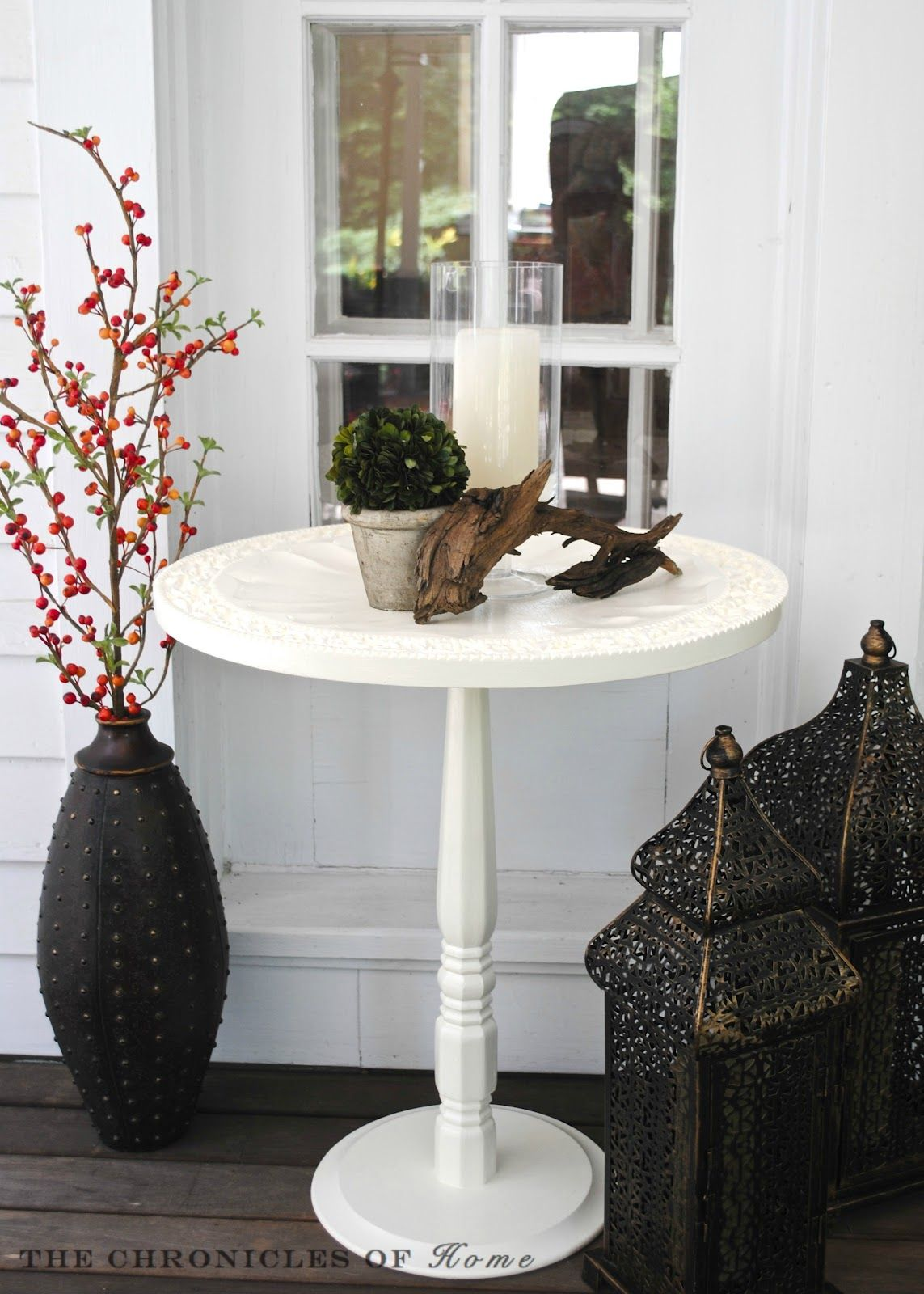 Make Pedestal Accent Table Wooden Tray