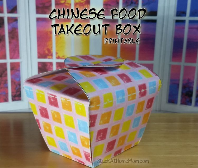 Chinese food takeout box printable chinese food box food