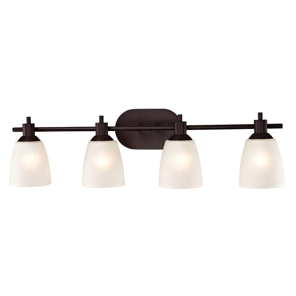 Titan Lighting Jackson 4 Light Oil Rubbed Bronze Bath Bar Light Tn 60027 In 2020 With Images Oil Rubbed Bronze Bathroom Led Bathroom Vanity Lights Bronze Bathroom