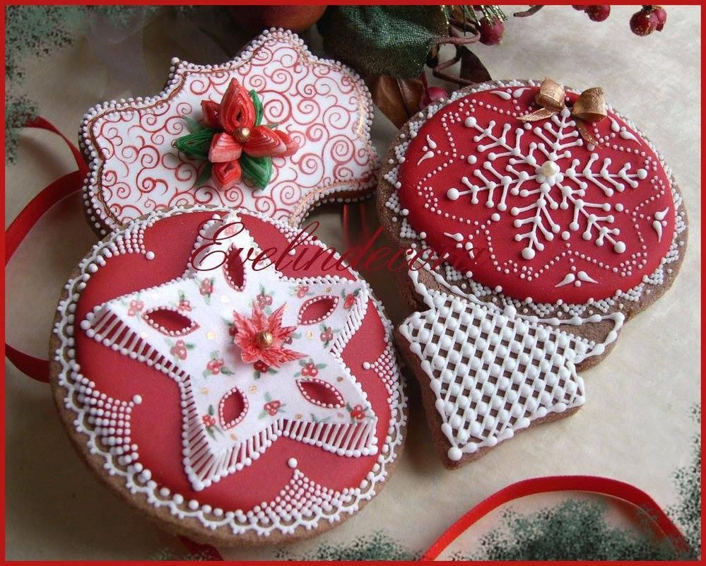 Christmas cookies with wafer paper details - Evelindecora | Cookie Connection