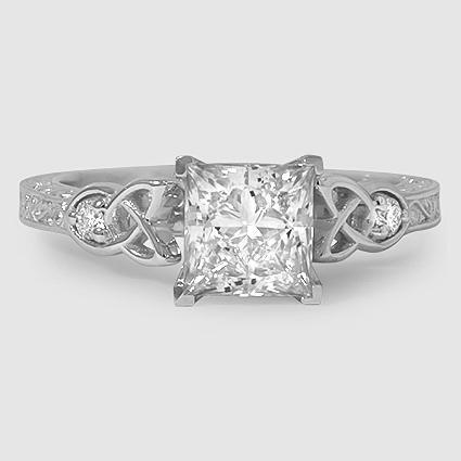 18K White Gold Aberdeen Diamond Ring Celtic engagement rings