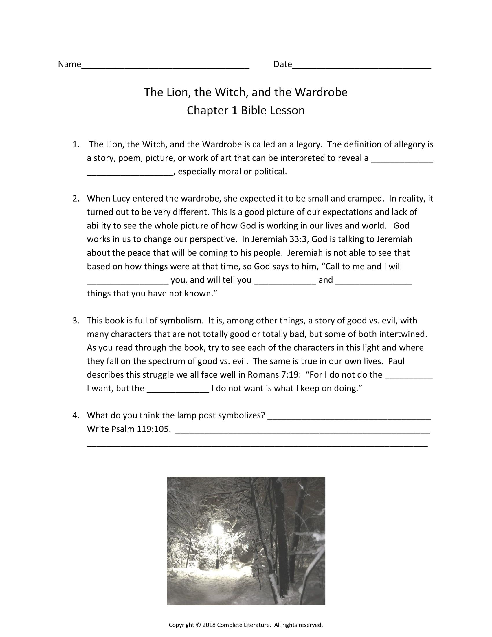 This Worksheet Is Perfect To See How The Bible Relates To