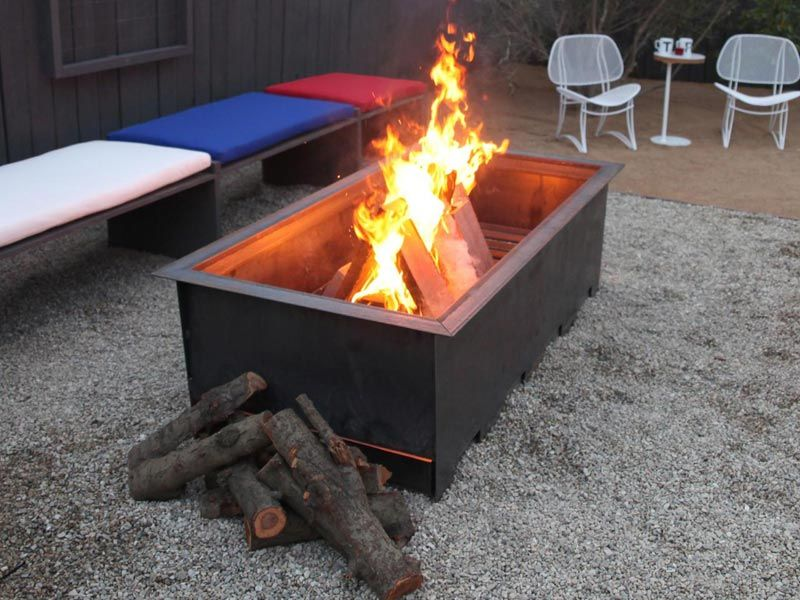 Rectangular-Wood-Burning-Fire-Pit - Rectangular-Wood-Burning-Fire-Pit Lake House Ideas Pinterest