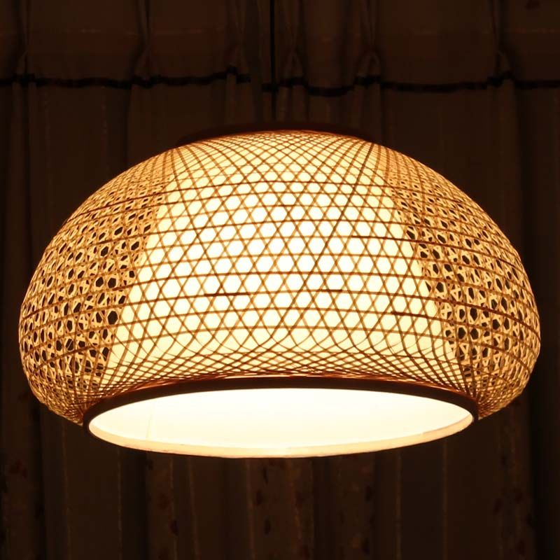 Japanese Style Pendant Light Balcony Lighting Living Room Lamps Romance Nordic Brief Bamboo Lantern Lamp Cover