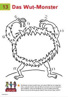 Das Wut Monster   Kreativer unterricht, Sozialpädagogik ...